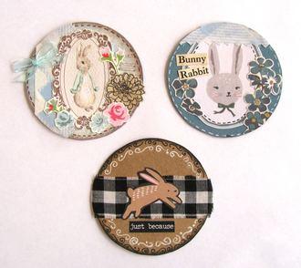 Artist Trading Coins Rabbits