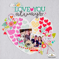 Love You Always **Doodlebug Design** layout