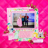 Aurora & Prince Philip Disney Scrapbook Layout