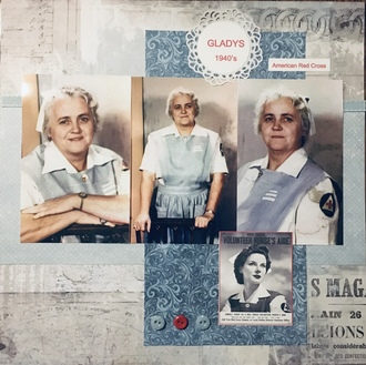 Gladys 1940's - American Red Cross