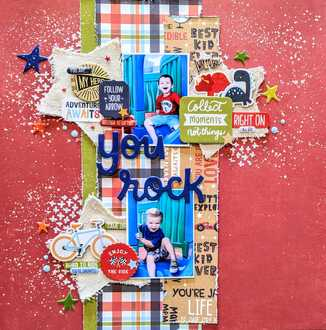 Layout #1 - You Rock - March Guest Designer