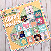 Quilted Heart Easter Layout