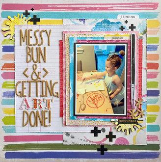 Messy Bun & Getting Art Done!