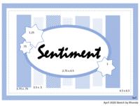 April Card Sketch
