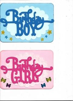 Boy & Girl B-day Cards