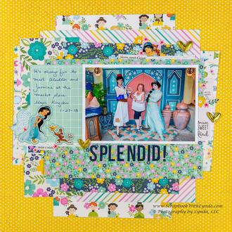 Aladdin & Jasmine Scrapbook Layout - Layering Tips