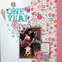 One Year Old (April 2020 Double Page Challenge)