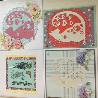 Kitty Flower Cards