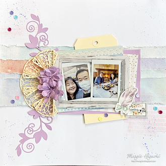 Together Watercolor Scrapbook Page