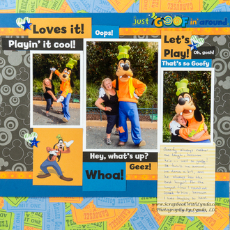 Disney Goofy Scrapbook Layout