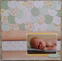 Circle layout- easton baby book