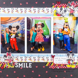 Mickey, Minnie and Goofy at Disney World