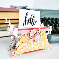 Oh Happy Day Typewriter Box Card