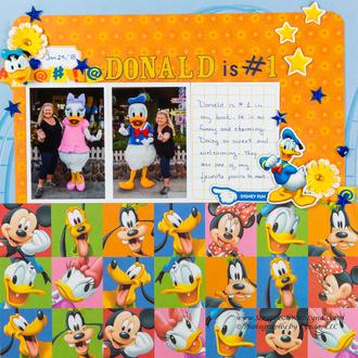 Donald and Daisy Duck at Hollywood Studios, Disney World