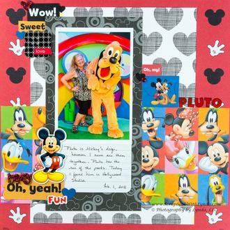Hidden Mickeys on a Disney Layout with Pluto