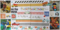 On the Move - Double page challenge May
