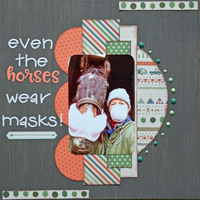 Even The Horses Wear Masks!