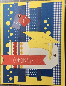 Kindergarten Grad card