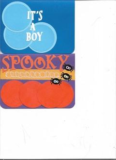 It's a Boy & Spooky cards