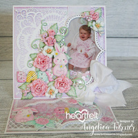 Baby Girl Easel Card