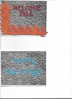 Metal embossing paper cards