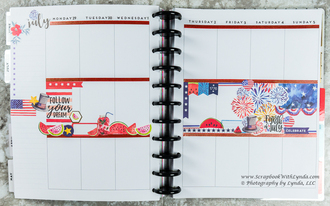 4th of July Before the Pen planner spread