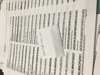 2020 7 printed fonts