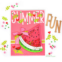 Watermelon Shaker Card