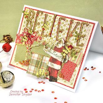 Christmas Believe in Santa Card