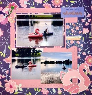 Flamingo floatie