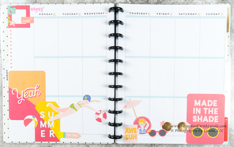 Beach Themed Before the Pen Planner Spread