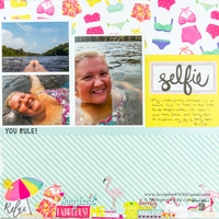 Selfie Scrapbook Layout