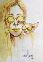 Yellow Watercolor Painting