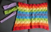 Crochet bathmat & headbands