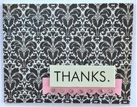 Fleur de Lis Thanks Card