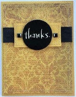 Black and Gold Thanks Card