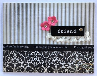 Friend Card with Lace