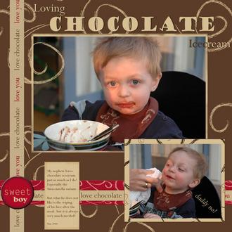 Loving chocolate icecream