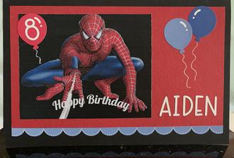 Aiden's 8th Birthday Card