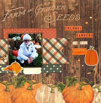 Colonel Sanders in the Pumpkin Patch