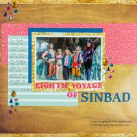 Eighth Voyage of Sinbad Scrapbook Layout - Universal Studios