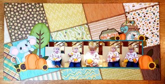 September Double Page Challenge