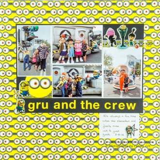 Gru, The Girls, Minions and Vector at Universal Studios