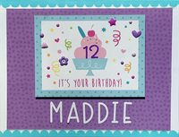 Maddie's 12th Birthday Card