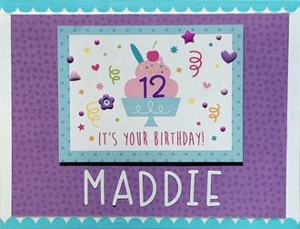 Maddie's 12th Birthday Card