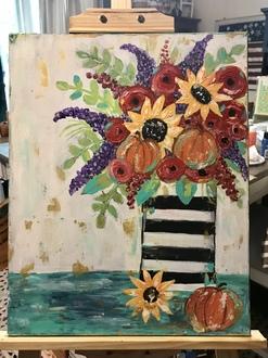 Funky fall flower bouquet