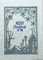 Die cut Christmas card
