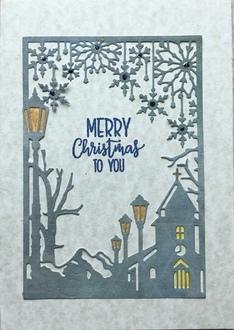 Die cut Christmas card