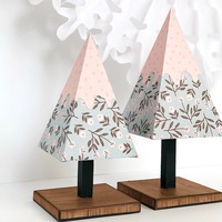 Set of Two Snowy Pine Trees 3D