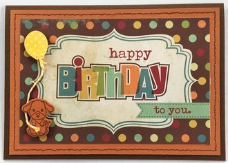 Dog Birthday Card